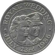 50 Pence - Elizabeth II (Mariage du prince Andrew et de Sarah Ferguson) – revers