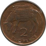 2 pence Elizabeth II (2e effigie) – revers