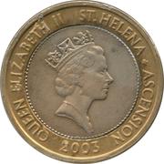 2 livres - Elizabeth II (3ème effigie) – avers