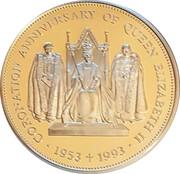 2 Pounds - Elizabeth II (Coronation Jubilee) – revers