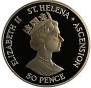 50 Pence - Elizabeth II (D-Day, Silver) – avers