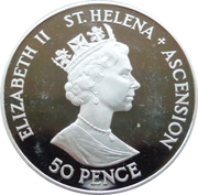 50 Pence - Elizabeth II (Mariage d'Andrew et Sarah) – avers