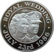 50 Pence - Elizabeth II (Mariage d'Andrew et Sarah) – revers