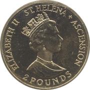 2 Pounds - Elizabeth II (90ème anniversaire de la Reine mère) – avers