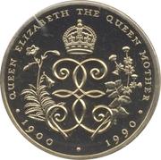 2 Pounds - Elizabeth II (90ème anniversaire de la Reine mère) – revers