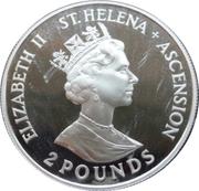 2 Pounds - Elizabeth II (40ème anniversaire du couronnement) – avers