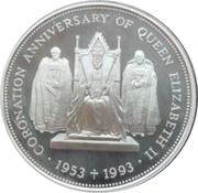 2 Pounds - Elizabeth II (40ème anniversaire du couronnement) – revers