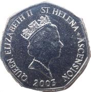 50 pence - Elizabeth II (3ème effigie, petit module) – avers