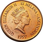 1 penny Elizabeth II (3e effigie, acier plaqué cuivre) – avers