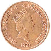 2 pence Elizabeth II (3e effigie, bronze) – avers