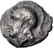 Obol- Evagoras II (Salamis) – avers