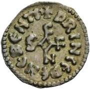 1 denaro Siconolf (rien dans aucun quadrant) -  avers