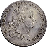 1 Thaler - Friedrich III. – avers