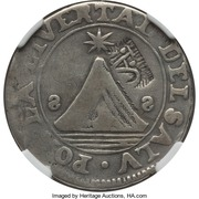 2 Reales (SAP - Counter-marked coinage) – avers