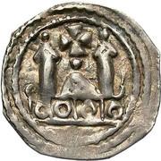 1 pfennig Adalbert III de Bohême (Friesach) – revers