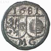 1 pfennig Max Gandolf von Kuenburg – avers