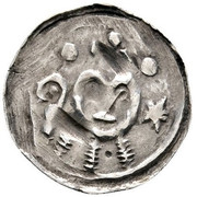 1 pfennig Eberhard I (Friesach) – avers