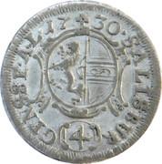 4 kreuzer Leopold Anton von Firmian -  revers