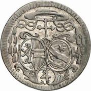 4 kreuzer Sigismund von Schrattenbach -  avers