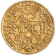 2 ducats Wolf Dietrich von Raitenau -  avers