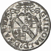 1 kreuzer Guidobald von Thun -  avers