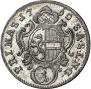1 kreuzer Sigismund von Schrattenbach -  revers