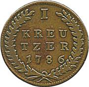 1 kreutzer Hieronymus von Colloredo -  revers