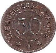 50 pfennig - Salzungen – revers