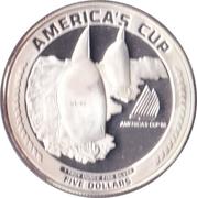 5 Dollars (Coupe de l'America) – revers