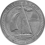 25 dollars (Coupe de l'America) – revers
