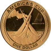 1 dollar (Coupe de l'america) – revers