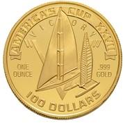 100 dollars (Coupe de l'America/Jeux olympiques de Séoul 1988) – avers