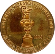 1 Dollar (America's Cup without rope-like ornamentation) – avers