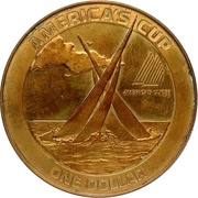 1 Dollar (America's Cup without rope-like ornamentation) – revers