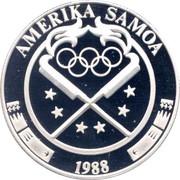 5 Dollars (Jeux Olympiques Séoul 1988) – avers