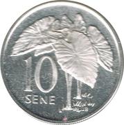 10 Sene - Malietoa Tanumafili II – revers