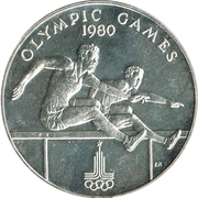 10 Tālā - Malietoa Tanumafili II (Olimpic games) – revers