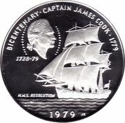 10 Tala - Tanumafili II Captain (James Cook; Silver proof issue) – revers