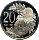 20 Sene - Malietoa Tanumafili II – revers