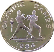 10 tala (1984 Summer Olympic Games) – revers