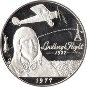 1 Tālā - Malietoa Tanumafili II (Charles Lindbergh; Silver Proof Issue) – revers