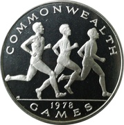 1 tala - Tanumafili II (Commonwealth Games; Argent) – revers