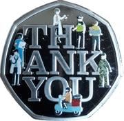 ½ dollar (Thank you) – revers