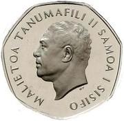 1 tala - Malietoa Tanumafili II (Silver Piedfort) – avers