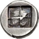 Trihemiobol (Samothrace) – revers
