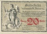 20 Heller 1920 Gutschein -  avers