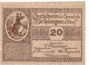 20 Heller (St. Georgen am Ybbsfelde) -  avers