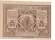 20 Heller (St. Georgen am Ybbsfelde) -  revers