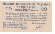 20 Heller (St. Magdalena bei Linz) – revers