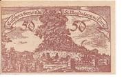 50 Heller (St. Magdalena bei Linz) – avers